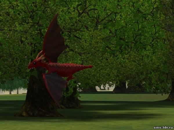 Как в симс 3 сделать дракона большим