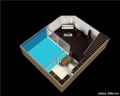 Видео как сделать подвал в симс 3